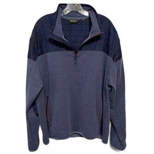 Orvis Pullover Sweater Quarter Zip Partial Puffer